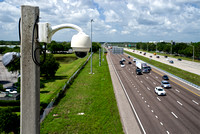 CCTV cameras are used to monitor traffic conditions along Florida interstate highways