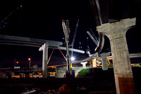 The highest beams on the I-4 Ultimate project were placed overnight at the I-4/S.R. 408 interchange